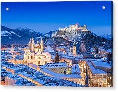 Salzburg In Winter Acrylic Print