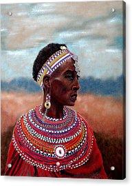 Samburu Woman Acrylic Print