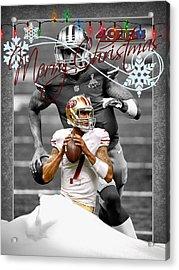 San Francisco 49ers Christmas Card Acrylic Print by Joe Hamilton