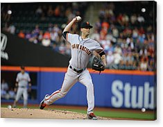 San Francisco Giants V New York Mets Acrylic Print by Al Bello