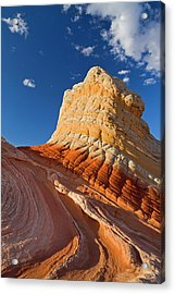 Sandstone Formations At The White Acrylic Print