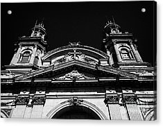 Santiago Metropolitan Cathedral Chile Acrylic Print by Joe Fox