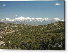 611p Schell Creek Range Nv Acrylic Print