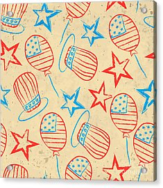 Seamless Pattern For 4th Of July Acrylic Print by Allies Interactive