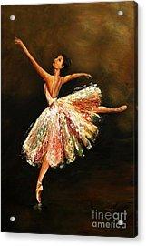 Second Arabesque Acrylic Print by Nancy Bradley