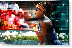 Serena Williams Acrylic Print by Marvin Blaine
