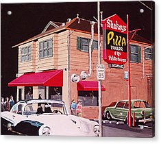 Shakey's Pizza Acrylic Print by Paul Guyer