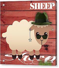 Sheep Collection Acrylic Print