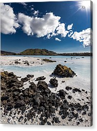 Silica Deposits In Water By The Acrylic Print by Panoramic Images