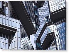 Skyscraper Windows Background Acrylic Print by IB Photography