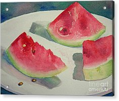 3 Slices Acrylic Print by Lisa Pope