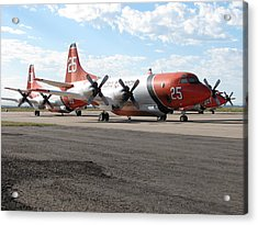 3 Slurry Bombers Acrylic Print by Steven Parker