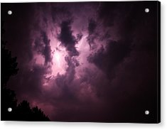 Acrylic Print featuring the photograph Small But Eruptive Cell North Of Kearney by NebraskaSC