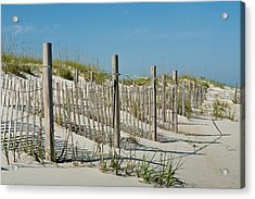 Snow Fence Acrylic Print by Denis Lemay