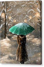 Snow Acrylic Print