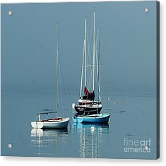 Sorrento Sailboats  Acrylic Print by Christopher Mace