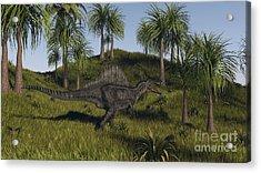 Spinosaurus Hunting In An Open Field Acrylic Print by Kostyantyn Ivanyshen