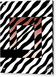 Acrylic Print featuring the drawing 3 Squares With Ripples by Joseph J Stevens