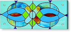 Acrylic Print featuring the photograph Stained Glass Window by Janette Boyd