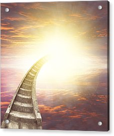 Stairway To Heaven Acrylic Print by Les Cunliffe