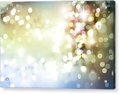 Starry Background Acrylic Print by Les Cunliffe