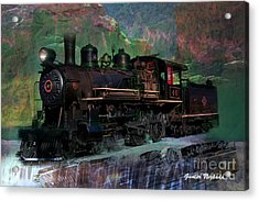 Steam Locomotive Acrylic Print by Gunter Nezhoda