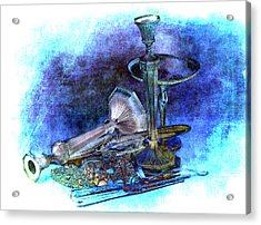 Sterling Silver Scrap Acrylic Print by Gunter Nezhoda