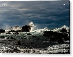 Stormy Seas And Skies  Acrylic Print