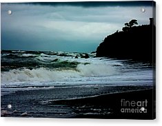 Stormy Seas At Night Acrylic Print