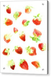 Strawberries Acrylic Print by HD Connelly