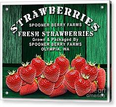 Strawberry Farm Acrylic Print