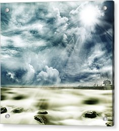 Sunlight Acrylic Print by Les Cunliffe