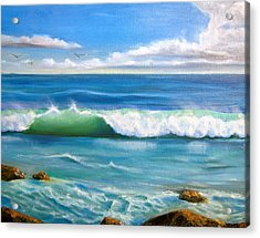 Sunny Seascape Acrylic Print by Heather Matthews