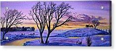 Sunset Sublime Acrylic Print by Thomas Kuchenbecker