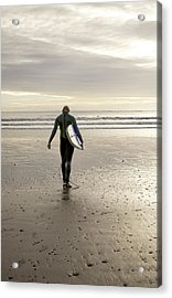 Surfing  Acrylic Print by Gouzel -