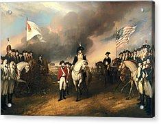 Surrender Of Lord Cornwallis Acrylic Print
