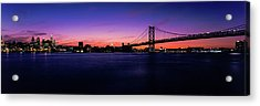 Suspension Bridge Across A River, Ben Acrylic Print by Panoramic Images