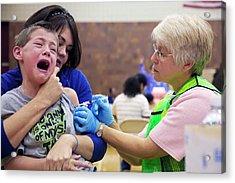 Swine Flu (h1n1) Vaccination Acrylic Print by Jim West