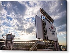 Target Field Sunset Acrylic Print by Tom Gort