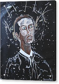 Acrylic Print featuring the painting Tesla's Pal. by Ken Zabel