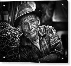 Textile Merchant Acrylic Print by Tom Bell