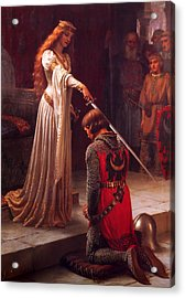 The Accolade Acrylic Print by Edmund Blair Leighton