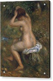 The Bathers Acrylic Print by Pierre-Auguste Renoir