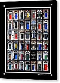 The Georgian Doors Of Dublin Acrylic Print