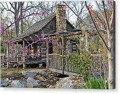 The Historic Gosnell Log Cabin  Mauldin Sc Acrylic Print