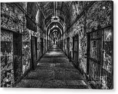 The Long Walk Acrylic Print by Arnie Goldstein