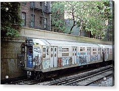 Acrylic Print featuring the photograph The Subway In The 70s by Jim Poulos