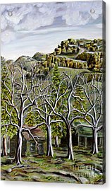 Then And Now A New Beginning Acrylic Print by Linda  Steine