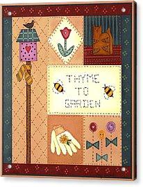 Thyme To Garden Acrylic Print