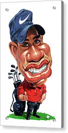 Tiger Woods Acrylic Print by Art